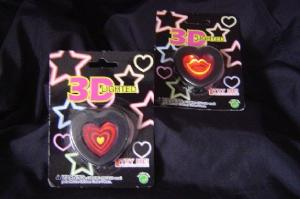 3D Heart Blinking Light Pin